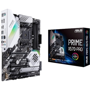 Asus Prime X570-PRO/CSM AMD AM4 ATX Motherboard with PCIe 4.0 Dual M.2  HDMI  SATA 6Gb/s  USB 3.2 Gen 2 Front-Panel Connector and Aura Sync RGB Lighting