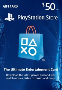 $50 PlayStation Store PSN Gift Card – PS3/ PS4/ PS Vita [US Region Instant Digital Code]