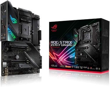 ASUS ROG Strix X570-F Gaming ATX Motherboard with PCIe 4.0  Aura Sync RGB Lighting  Intel Gigabit Ethernet  Dual M.2 with Heatsinks  SATA 6GB/S and USB 3.2 Gen 2