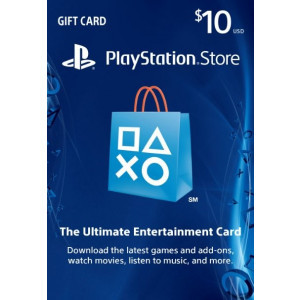 $10 PlayStation Store PSN Gift Card - PS3/ PS4/ PS Vita [US Region Instant Digital Code]