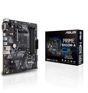ASUS PRIME B450M-A AMD AM4 mATX motherboard with Aura Sync RGB header  DDR4 3466MHz  M.2  HDMI 2.0b  SATA 6Gbps and USB 3.1 Gen 2