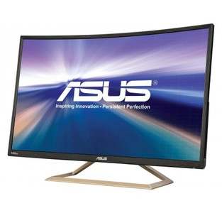 ASUS VA326H Gaming Monitor  31.5 FHD (1920x1080)  144Hz  Curved  Flicker free  Low Blue Light