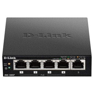 D-LINK 5-Port Gigabit Unmanaged Switch with 4 POE Ports (DGS-1005P)