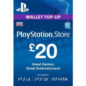 £20 PlayStation Store PSN Gift Card - PS3/ PS4/ PS Vita [UK Region Digital Code]