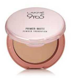 Lakme 9 to 5 Primer Plus Matte Powder Foundation Compact - Rose Silk - 9g
