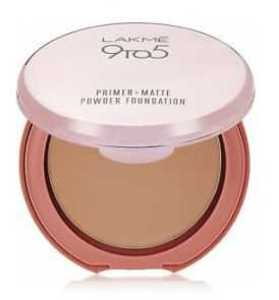 Lakme 9 to 5 Primer Plus Matte Powder Foundation Compact - Natural Almond - 9g