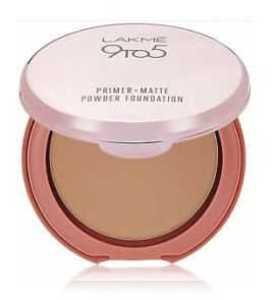 Lakme 9 to 5 Primer Plus Matte Powder Foundation Compact - Natural Light - 9g