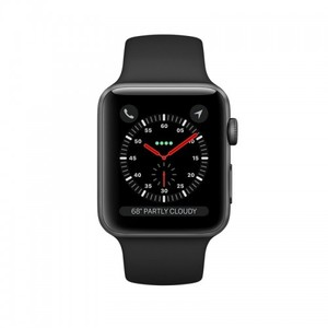 Apple iWatch Series 3 38mm Space Gray Aluminum Case With Gray Sport Band - GPS (MR352)