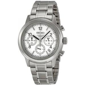 Seiko Men's SSB001 Silver Dial Watch