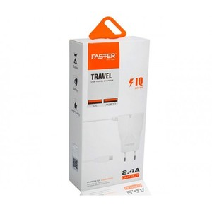 FASTER FAC-700- 2.4A USB TRAVEL CHARGER IQ SERIES