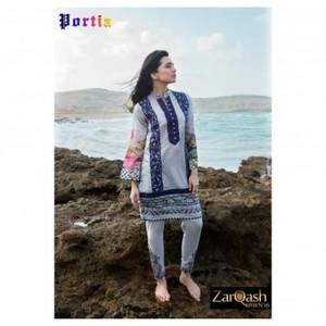 Zarqash Luxury Lawn 2016 (Portia Fabrics) ZQL-8A