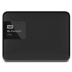 WD 3TB Black My Passport Ultra Portable External Hard Drive - USB 3.0