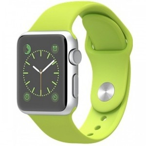 Apple Watch - MJ3P2 42mm Silver Aluminum Case with Green Sport Band
