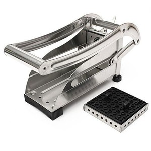 2 Blades Stainless French Fries Slicer Potato Fruit Chipper Chip Cutter Chopper