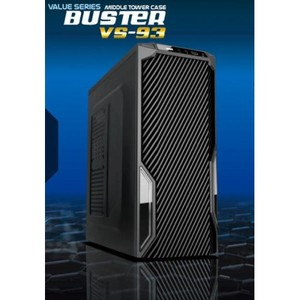CaseCom VS93 Buster Value Series Mid Tower Case with 120MM Blue LED Fan and Power Supply