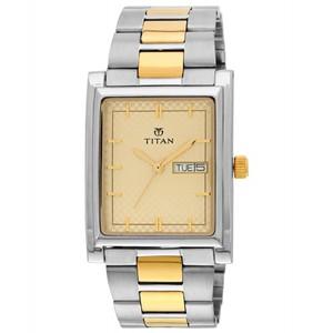 Titan Karishma Champagne Dial Men's Analog Watch - 90024BM02 - Buy One Get One Free