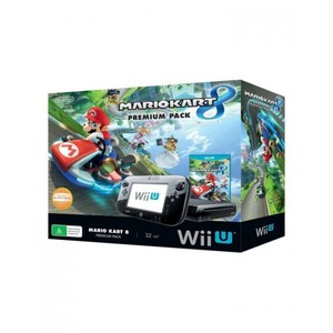 Nintendo Black Wii U With Mariokart 8 - PAL