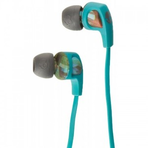 Skullcandy Smokin Buds 2 w Mic 8 Bit Floral / Gray / Teal Earbuds S2PGFY-364