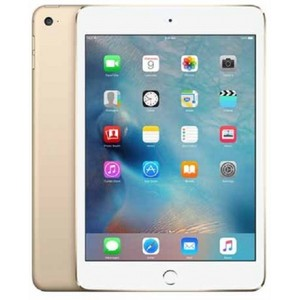 "Apple iPad Mini 4 - 128GB 2GB 8MP Camera (7.9"") Retina display Wi-Fi + 4G Gold"