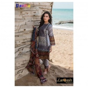 Zarqash Luxury Lawn 2016 (Portia Fabrics) ZQL-3B