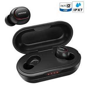 T5 True Wireless Earbuds / M5 Sept 2019 Upgraded Version by MPOW with Qualcomm aptX, CVC 8.0 Noise Cancellation 36 Hour Battery