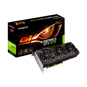 GIGABYTE GeForce® GTX 1070 G1 Gaming Card 8GB (3 Year Warranty)