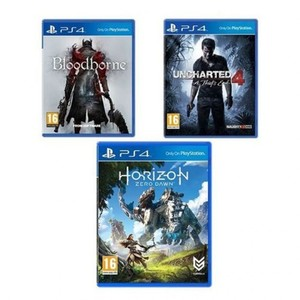 Sony PS4 Platinum Hits (Uncharted 4, Horizon Zero Dawn & Bloodborne)