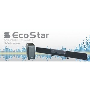 EcoStar SB-X500 Sound Bar with Wireless Woofer System