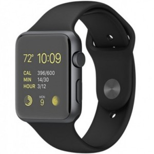 Apple Watch - MLC82 42mm Space Gray Aluminum Case with Black Sport Band