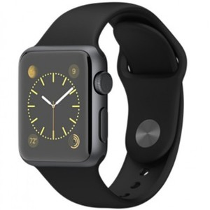 Apple Watch - Series 1 MP022 38mm Space Grey Aluminium Case with Black Sport Band