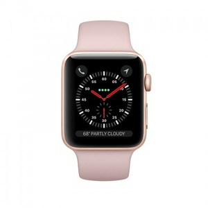 Apple iWatch Series 3 38mm Gold Aluminium Case With Pink Sand Sport Band - GPS (MQKW2)