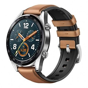 HUAWEI WATCH GT (2-week battery-life, GPS, Brown leather)