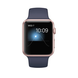 Apple Watch - Series 1 MQ122 42mm Rose Gold Aluminum Case with Midnight Blue Sport Band