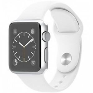 Apple Watch - Series 1 MNNG2 38mm Silver Aluminium Case With White Sport Band