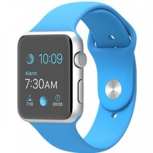 Apple Watch - MJ3Q2 42mm Silver Aluminum Case with Blue Sport Band