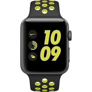 Apple Watch Nike+ Mp0a2ll/a 42mm Space Gray Aluminum Case with Black/Volt Nike Sport Band