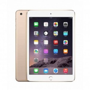 "Apple iPad Mini 3 - 16GB 2GB 8MP Camera (7.9"") Retina display Wi-Fi+4G GOLD"
