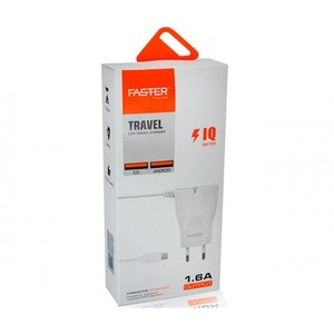 FASTER FAC-100- 1.6A USB TRAVEL CHARGER IQ SERIES