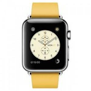 Apple Watch 38mm Stainless Steel Case with Marigold Modern Buckle - Medium (MMFF2)