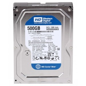 Western Digital 500GB AAKX 16MB Cache 7200RPM SATAII-6GB-s Interface