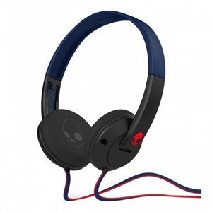 Skullcandy UPROCK | Denim / Black / Red w Mic Earbuds SGURFY-122
