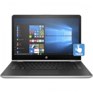 "HP Pavilion Cd1010TU i3-8145-4GB, 500GB, 14"" HD AG LED SVA wHDC slim, WIN 10 Home, X360 TOUCH SCREEN, Natural Silver 5HV49PA (1 Year Warranty)"