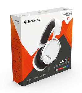SteelSeries Arctis 3 2019 Edition All-Platform Wired Gaming Headset - White - 61506 - For PC  PlayStation 4  Xbox One  Nintendo Switch  VR  Android  and iOS
