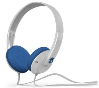 Skullcandy S5URDY-238 Uprock On-Ear Headphone with Mic (White/Blue )