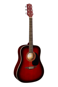 SX DG1K Semi Acoustic Guitar Red (With Tuner)