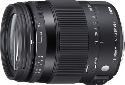 Sigma 18-200mm F3.5-6.3 DC OS HSM Fixed-Zoom Lens CONTEMPORARY for Canon EF-S Cameras