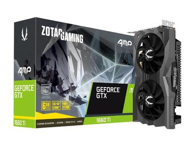 ZOTAC GAMING GeForce GTX 1660 Ti AMP 6GB GDDR6 192-bit Graphics Card - ZT-T16610D-10M (2 Years Limited Warranty)