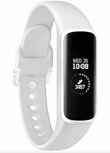 Samsung Galaxy Fit E 2019  Fitness Band  Pedometer  Heart Rate & Sleep Tracker  PMOLED Display  5ATM Water Resistance  MIL-STD-810G  Bluetooth Active SM-R375 - International Version (White)