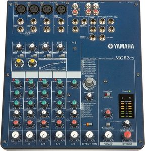 Yamaha MG82cx 8-channel Stereo Mixer with SPX Effects  3-band Channel EQ  and Phantom-powered Mic Inputs