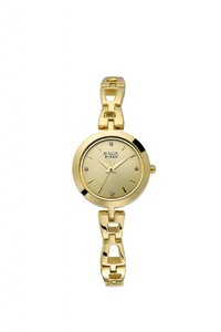 Titan 2540ym06 Stainless Steel Gold Plated Womens Watch